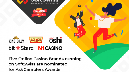 Five SoftSwiss online casino brands in finals for AskGamblers Awards 2021
