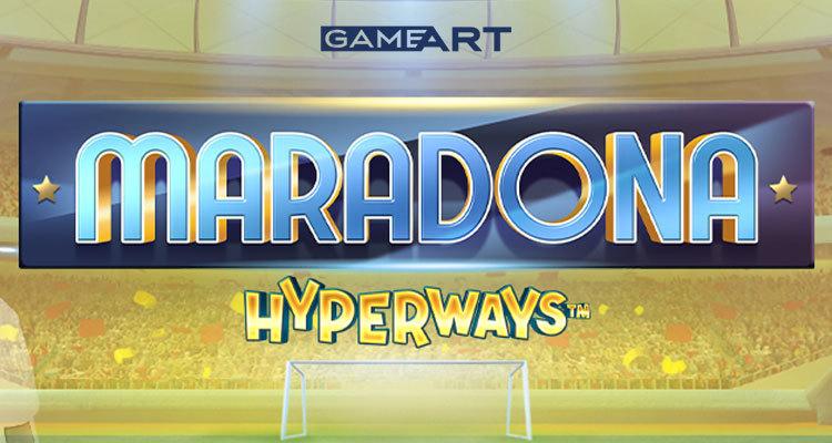 GameArt introduces new online slot Maradona HyperWays, featuring legendary striker Diego Maradona