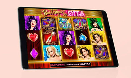 Microgaming announces the global launch of Dita Von Teese branded online slot by Aurum Signature Studios