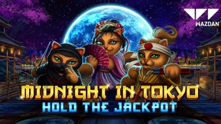 Karate-chopping cats cause mischief in Wazdan's new Hold the Jackpot online slot: Midnight in Tokyo