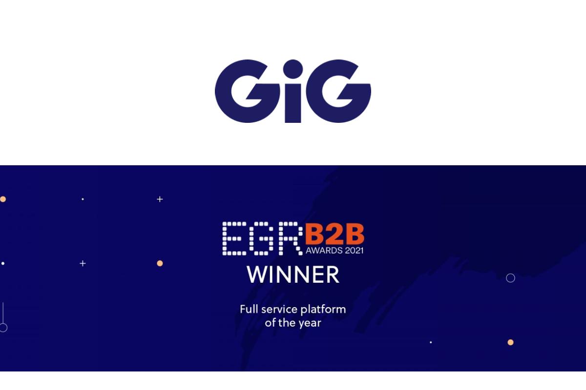 GiG crowned Full-service Platform of the Year at EGR B2B Awards 2021