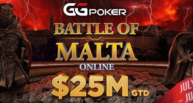 Battle of Malta goes online with GGPoker featuring $25 million in guaranteed prize money