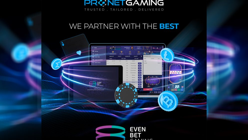 Pronet Gaming boosts content portfolio with EvenBet Gaming's poker solution