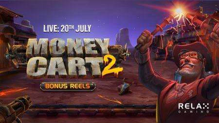 Relax Gaming releases UK exclusive Money Cart 2 Bonus Reels