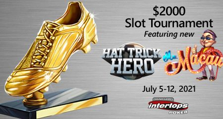 New online slot tournament starts this week at Intertops Poker featuring Betsoft's Hat Trick Hero