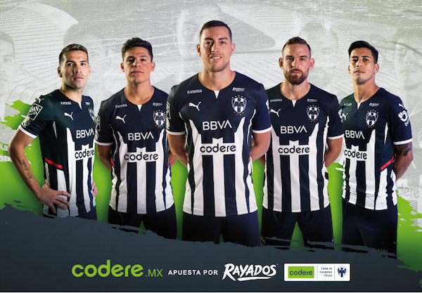 Codere on Mexican football club's shirts