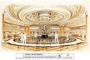 Caesars Palace casino foyer gets revamp
