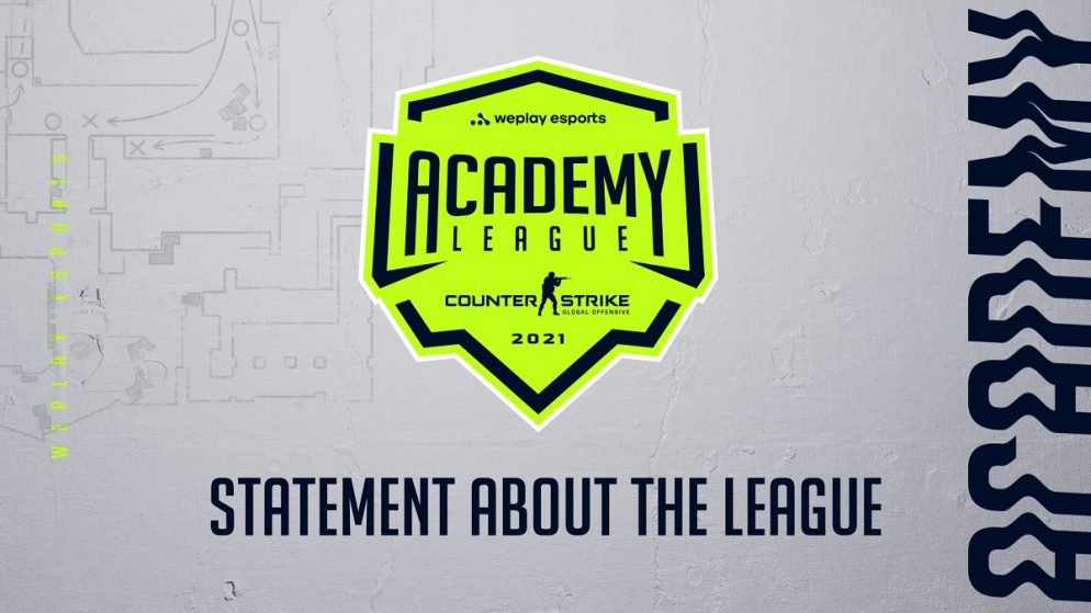 Announcement concerning WePlay Academy League