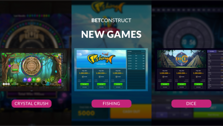BetConstruct releases new RNG games Fishing, Dice and Crystal Crush