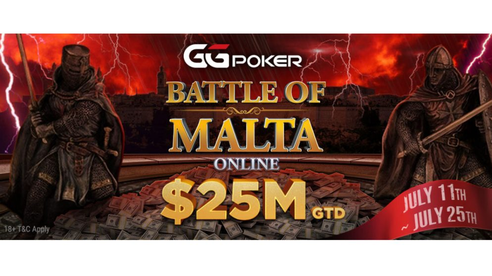 Battle of Malta Online 2021 Schedule Unveiled; $25M Guaranteed Series Runs July 11-25 At GGPoker