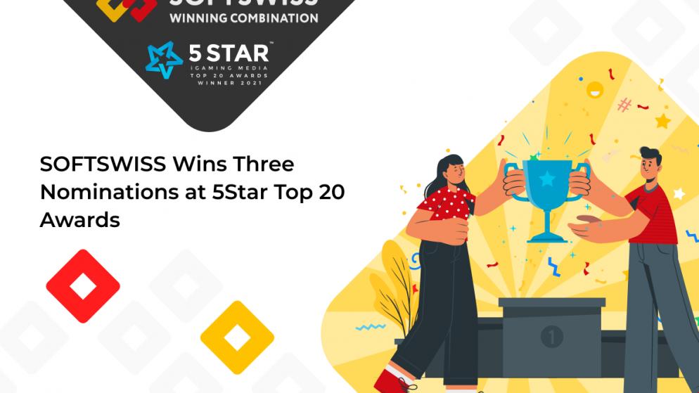 SOFTSWISS Wins Three Nominations at 5STAR Top 20 Awards