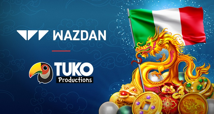 Further commercial growth for Wazdan via new content agreement with Italian operator Tuko Productions