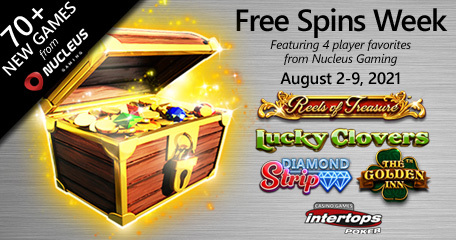 Extra spins this week at Intertops Poker via top online slot titles from Nucleus Gaming