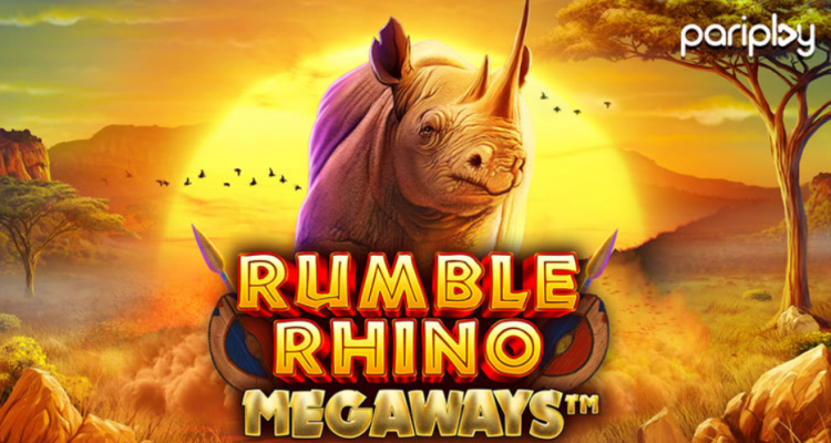 Pariplay takes the online slot action to the African Savannah in its latest release Rumble Rhino Megaways