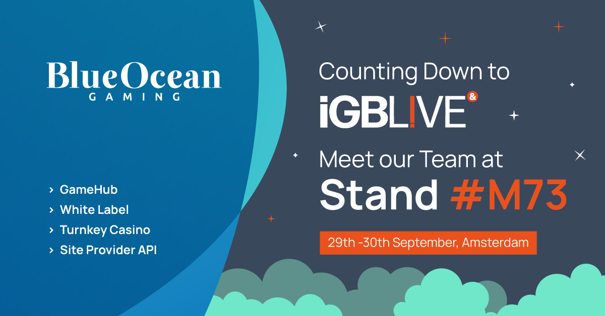 BlueOcean Gaming Counts Down to iGB Live! Amsterdam