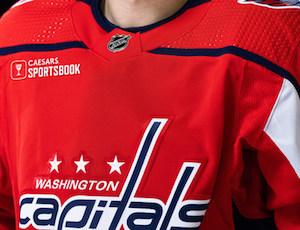 Caesars on Capitals jerseys