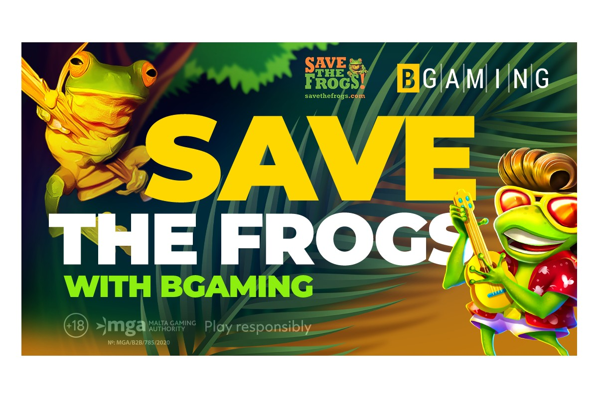 Elvis frog saves frogs! BGaming donates part of revenue from top game to protect amphibian population