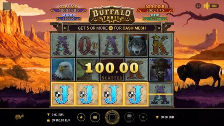 Buckle up for a wild ride in BF Games' Buffalo Trails™