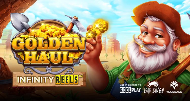 ReelPlay development partner Bad Dingo's new online slot Golden Haul Infinity Reels launched via YG Masters