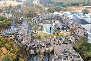 South African casino burned down