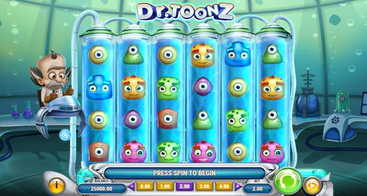 Play'n GO reveals origins of Reactoonz online slot series with release of Dr. Toonz