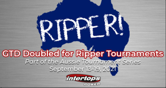 Intertops Poker doubles Ripper poker tournaments prize pools this week to $1,000 for Australian players