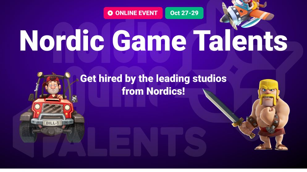 Games Factory Talents has teamed up with Nordic Game to bring you Nordic Game Talents.